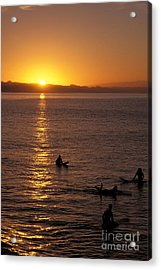 Sunrise In Capitola Acrylic Print by Stan and Anne Foster