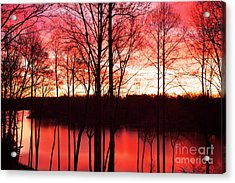 Sunrise Lake Norman North Carolina Acrylic Print by Kim Fearheiley