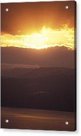 Sunrise Of  Mount Nebo In  Jordan Acrylic Print by Richard Nowitz