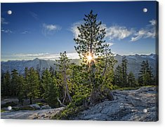 Sunrise On Sentinel Dome Acrylic Print by Rick Berk