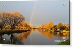 Sunrise On The Avon River  Acrylic Print by Joyce Woodhouse