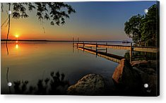 Sunrise Over Cayuga Lake Acrylic Print by Everet Regal