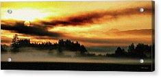 Sunrise Over The Cascades Acrylic Print by DMSprouse Art