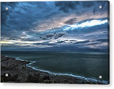 Sunrise Over The Dead Sea Israel Acrylic Print by Reynold Maines