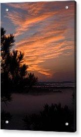 Sunrise Over The Mist Acrylic Print by Douglas Barnett