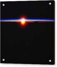 Sunrise Viewed From Space Acrylic Print by Stockbyte