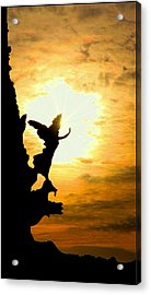 Sunset Angel Acrylic Print by Valentino Visentini