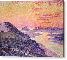 Sunset At Ambleteuse Pas-de-calais Acrylic Print by Theo van Rysselberghe