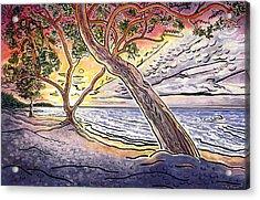 Sunset At Anaehoomalu Bay Acrylic Print by Fay Biegun - Printscapes