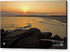 Sunset At Cape May Acrylic Print by Robert Pilkington