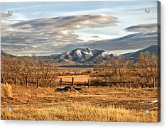 Sunset At Elk Mountain Wy Acrylic Print by James Steele