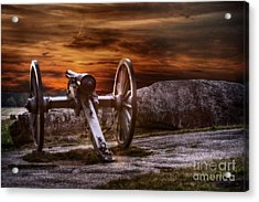 Sunset At Gettysburg Acrylic Print by Randy Steele