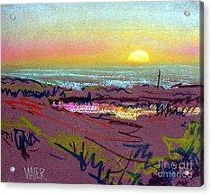 Sunset At Half Moon Bay Acrylic Print by Donald Maier