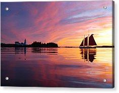 Sunset At Head Harbor Acrylic Print by Don Dunbar