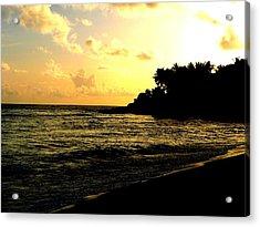 Sunset Beach Acrylic Print by Tai Clay