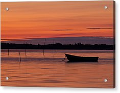 Sunset Boat Acrylic Print by Gert Lavsen