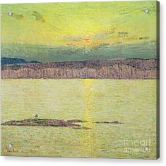 Sunset Acrylic Print by Childe Hassam