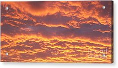 Sunset Clouds After The Storm Acrylic Print by Marsha Heiken