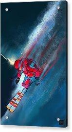 Sunset Extreme Ski Acrylic Print by Sassan Filsoof