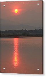 Sunset Fire Acrylic Print by James BO  Insogna