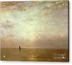 Sunset Acrylic Print by Hendrik William Mesdag