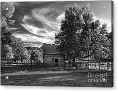 Sunset In Grafton Ghost Town Acrylic Print by Sandra Bronstein