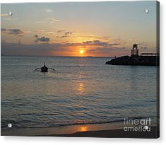 Sunset In Puerto Rico Acrylic Print by Patty Vicknair