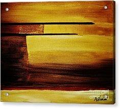 Sunset In The Desert Acrylic Print by Marsha Heiken