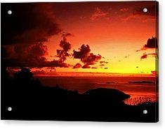 Sunset In The Islands Acrylic Print by Bill Jonscher