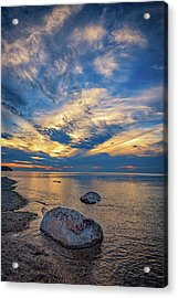 Sunset In Wading River Acrylic Print by Rick Berk