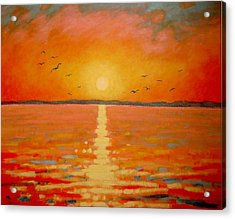 Sunset Acrylic Print by John  Nolan