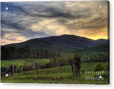 Sunset On Appleberry Mountain 2 Acrylic Print by Pete Hellmann