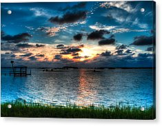 Sunset On Cedar Key Acrylic Print by Rich Leighton