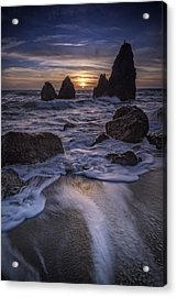 Sunset On Rodeo Beach Acrylic Print by Rick Berk
