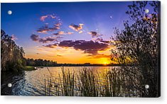 Sunset On The Lake Acrylic Print by Marvin Spates