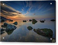 Sunset On The Sound Acrylic Print by Rick Berk