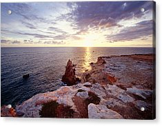 Sunset Over Cabo Rojo Puerto Rico Acrylic Print by George Oze