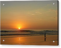 Sunset Over La Jolla Shores Acrylic Print by Christine Till