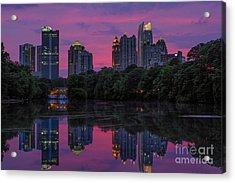 Sunset Over Midtown Acrylic Print by Doug Sturgess