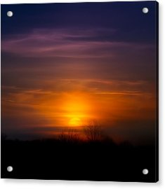 Sunset Over Scuppernong Springs Acrylic Print by Scott Norris