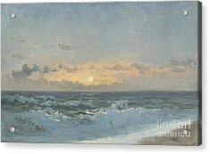 Sunset Over The Sea Acrylic Print by William Pye