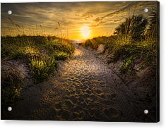 Sunset Path Acrylic Print by Marvin Spates