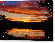 Sunset Reflections Acrylic Print by James BO  Insogna
