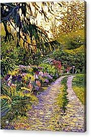 Sunset Road Impressions Acrylic Print by David Lloyd Glover