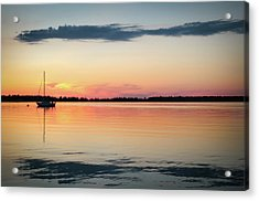 Sunset Sail On Calm Waters Acrylic Print by Kelly Hazel