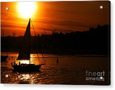 Sunset Sailing Acrylic Print by Clayton Bruster