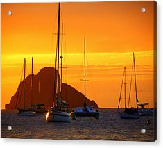 Sunset Sails Acrylic Print by Karen Wiles