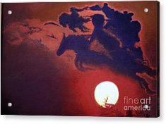 Sunset Steeplechase Acrylic Print by Cindy Lee Longhini