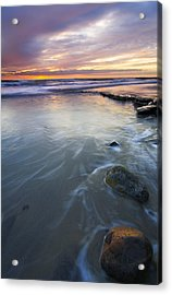 Sunset Storm Acrylic Print by Mike  Dawson