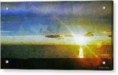 Sunset Under The Clouds Acrylic Print by Jeff Kolker
